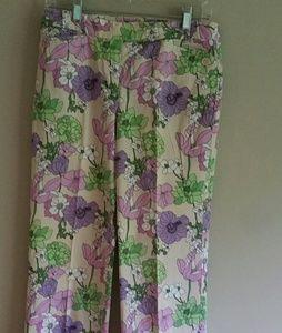 Ann Taylor Loft Print Pants Size 6